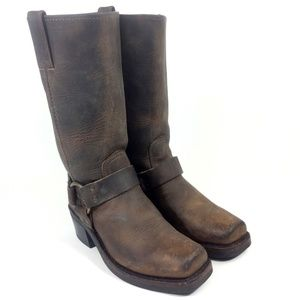 FRYE 77300 Brown Harness Motorcycle Boots Size 6